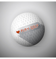 Golf Ball Abstract Background I Love Golf vector image vector image