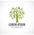 Green tree logo design template vector image