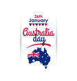 happy australia day vertical greeting banner vector image