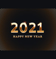 happy new year 2021 card template banner vector image vector image