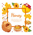 honey banner template with place for text organic vector image vector image