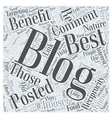 how to choose blogs to comment on to promote your vector image vector image
