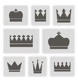 icons with different crowns vector image