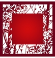 Laser cut template layout vector image vector image