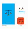 libra company logo app icon and splash page vector image vector image