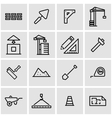 line construction icon set vector image vector image