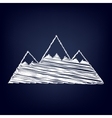 Mountain sign Flat style icon vector image vector image