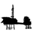 Offshore oil platform vector image vector image