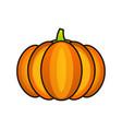 orange pumpkin sticker happy halloween vector image vector image