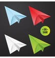 paper origami plane icon Colorful origamy vector image vector image