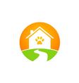 pet house dog and cat logo vector image vector image