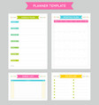 planner template for business and studying vector image vector image