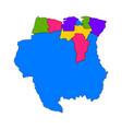 political map of suriname vector image