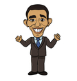 president barack obama vector image vector image
