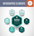 process chart infographics vector image vector image