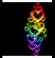 Rainbow Heart Border with Sparkles vector image vector image