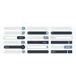 search bar internet browser items ui design vector image