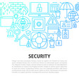 security line concept vector image