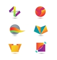 set of abstract geometric colorful icons vector image