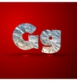 set of aluminum or silver foil letters Letter G vector image