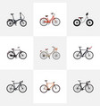 set of bicycle realistic symbols with exercise vector image vector image
