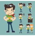set of man relax eps10 format vector image vector image