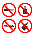 set vaping icons vector image vector image