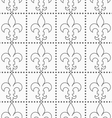 Shades of gray contoured Fleur-de-lis with dots vector image vector image