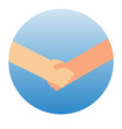 shaking hands symbol of success vector image vector image