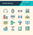 smart device icons filled outline design vector image vector image