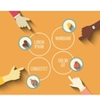 social meeting concept in modern flat vector image vector image