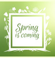 spring is coming banner and design vector image