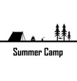 summer camp print vector image vector image