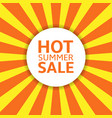 summer sale label vector image vector image