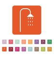 The shower icon Bathroom symbol Flat vector image vector image