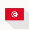 tunisia flag icon vector image
