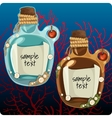 Two bottles at the bottom with note vector image vector image