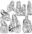 Virgin Mary Set vector image