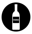 Vodka bottle symbol button vector image vector image