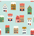 winter houses christmas fabrics and decor vector image