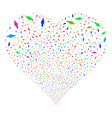 woman person fireworks heart vector image vector image