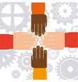 hands human vector image