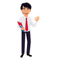 asian business man concept of cartoon character vector image vector image
