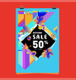 autumn sale poster template with lettering bright vector image vector image