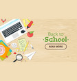 back to school top view vector image vector image