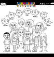 basic colors coloring book with kids vector image vector image