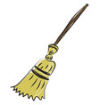 broom hand drawn design on white background vector image vector image
