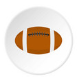 brown leather rugby ball icon circle vector image vector image