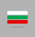 Bulgaria flag stylized Bulgarian flag of vector image vector image