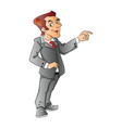 businessman pointing vector image vector image